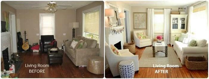 5 salones antes y despu s for Renovar salon clasico