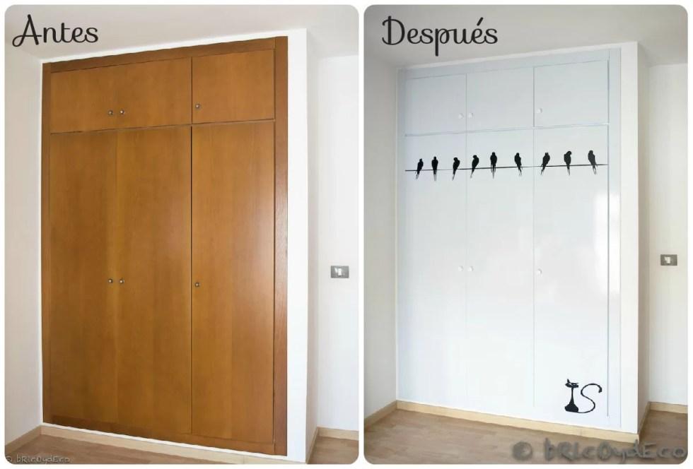 C mo forrar las puertas del armario con vinilo paso a paso - Decorar armario empotrado ...