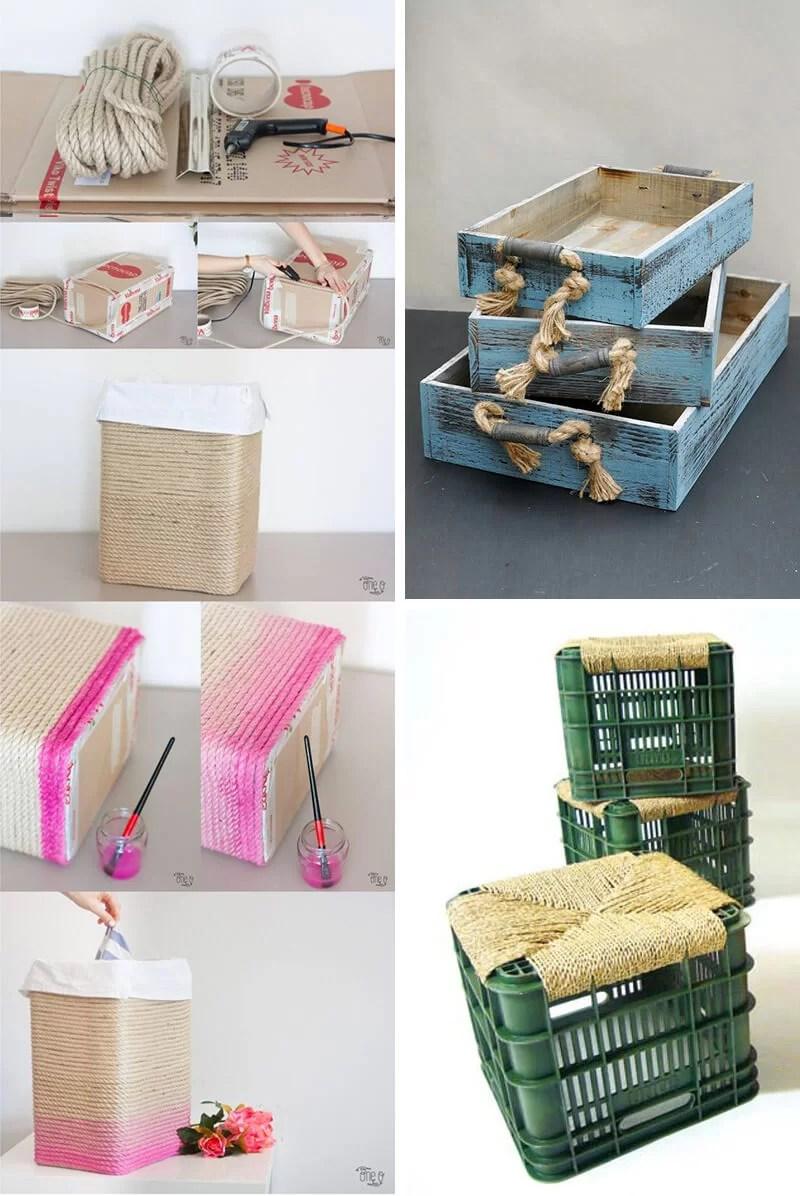decorar cajas con cuerdas