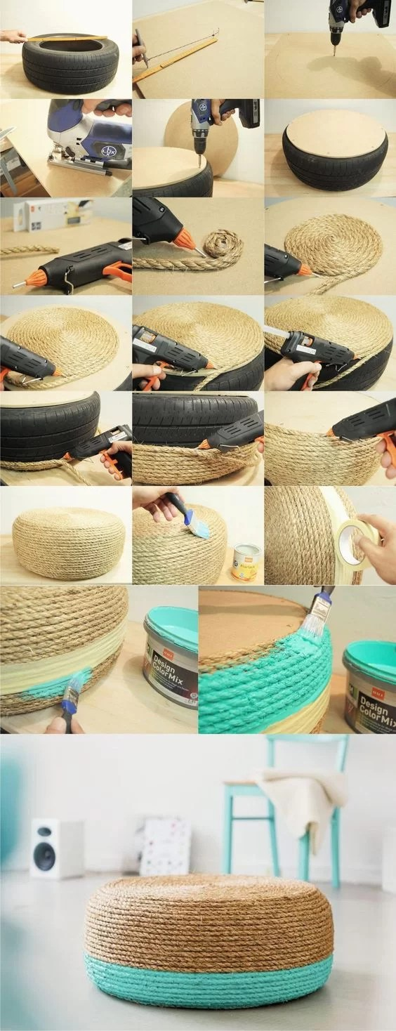 55 mejores ideas para decorar con cuerdas enseptiembre - Decorar terrazas reciclando ...