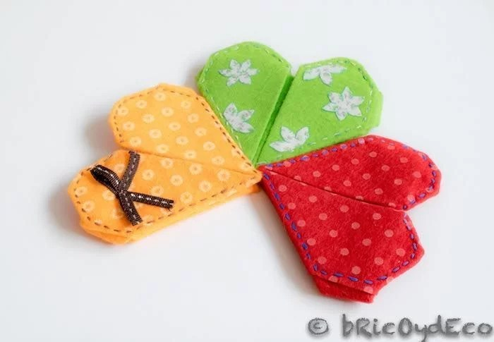 corazon-de-origami-de-fieltro