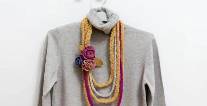 reciclar-bufanda-collar-rosas-fieltro