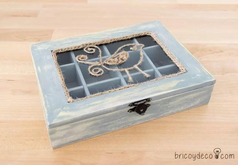 C mo decorar una caja de madera sin tratar - Cajas madera para manualidades ...