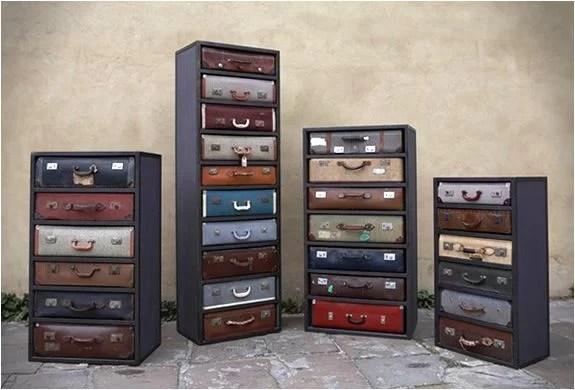 decorar con maletas y reciclar como cajoneras