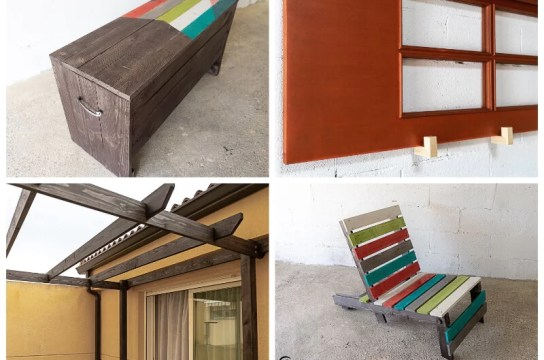 muebles de exterior decorados y protegidos con lasur