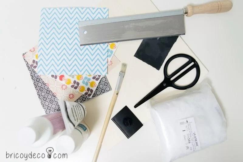 materiales para bandeja con azulejos DIY