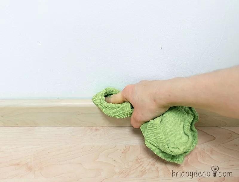 limpiar antes de colocar la cinta de enmascarar para pintar