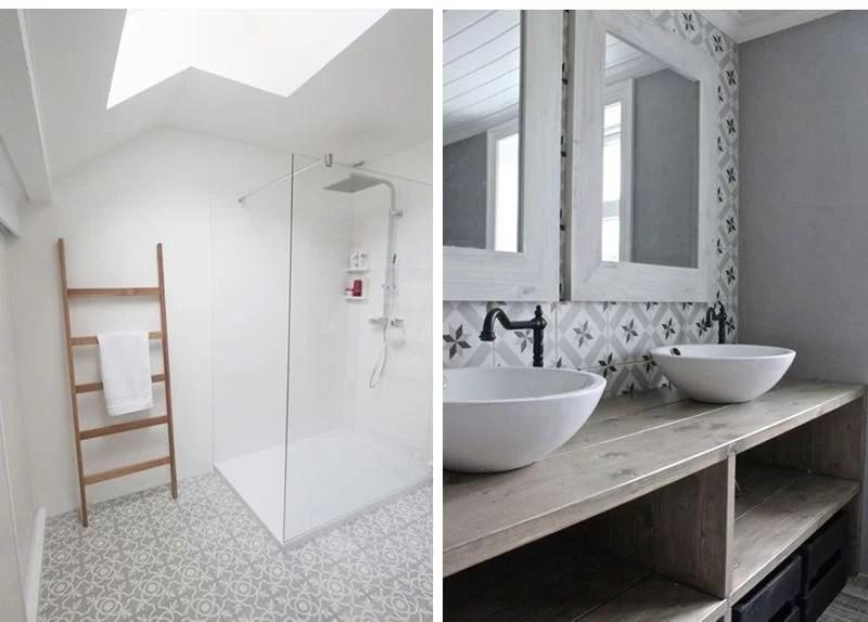 50 ideas para decorar con baldosas hidr ulicas for Suelo hidraulico bano