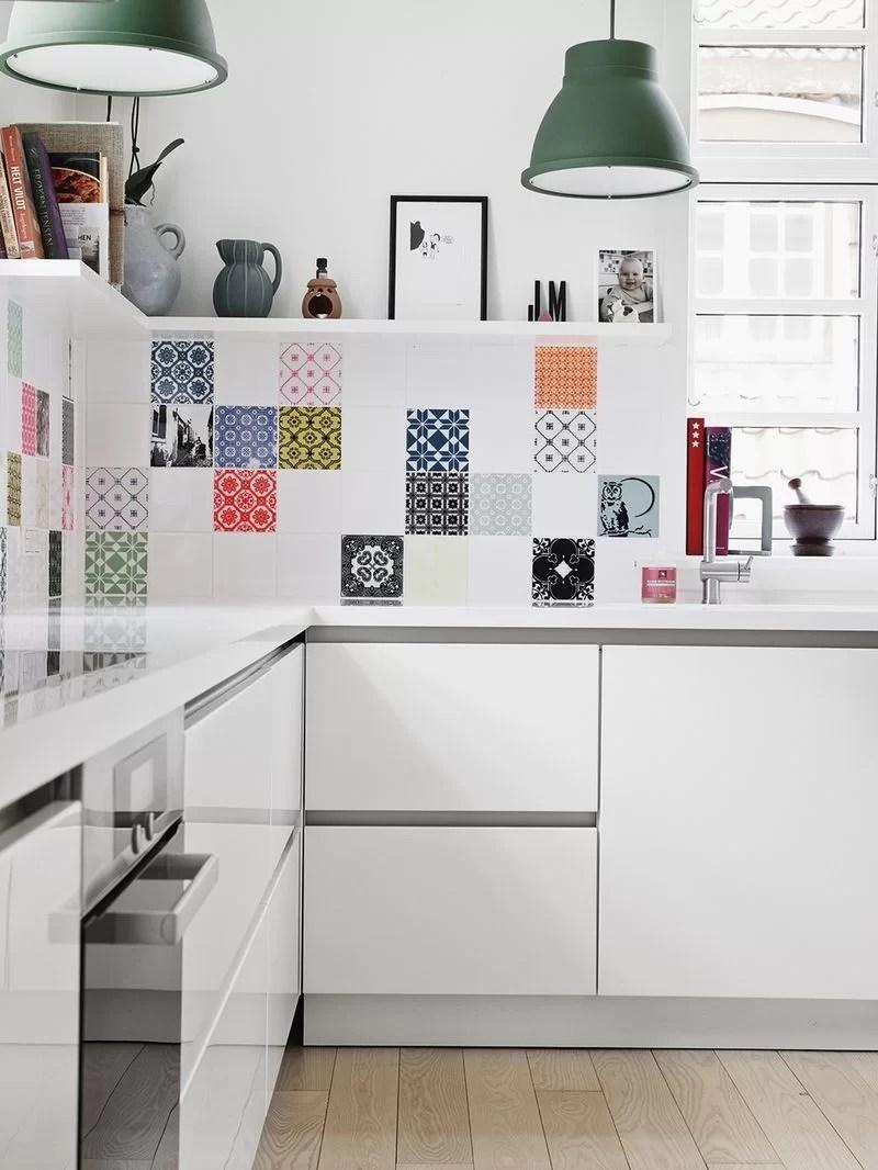 ideas para decorar con baldosas hidráulicas la cocina