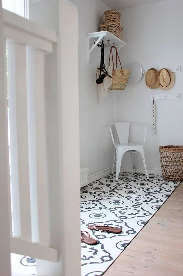 decorar con baldosas hidráulicas en el recibidor