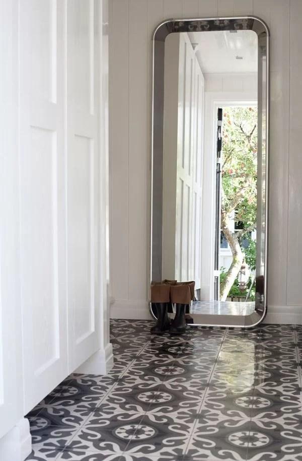 ideas para decorar con baldosas hidráulicas el recibidor