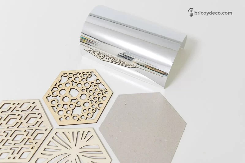 materiales para hacer un mural hexagonal decorativo
