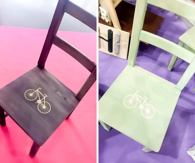 sillas decoradas con chalk paint por bricoydeco.con