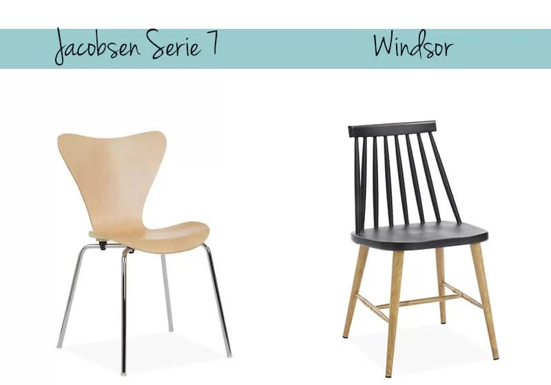Silla serie 7 de Arne Jacobsen y Silla Windsor en Superestudio.com