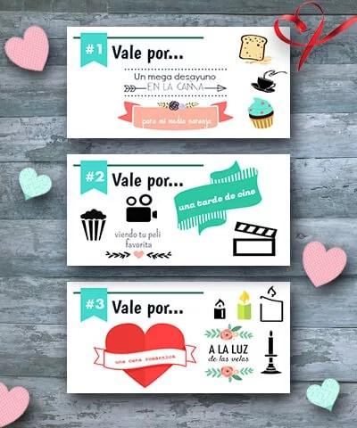 Talonario de San Valentín plantilla gratis