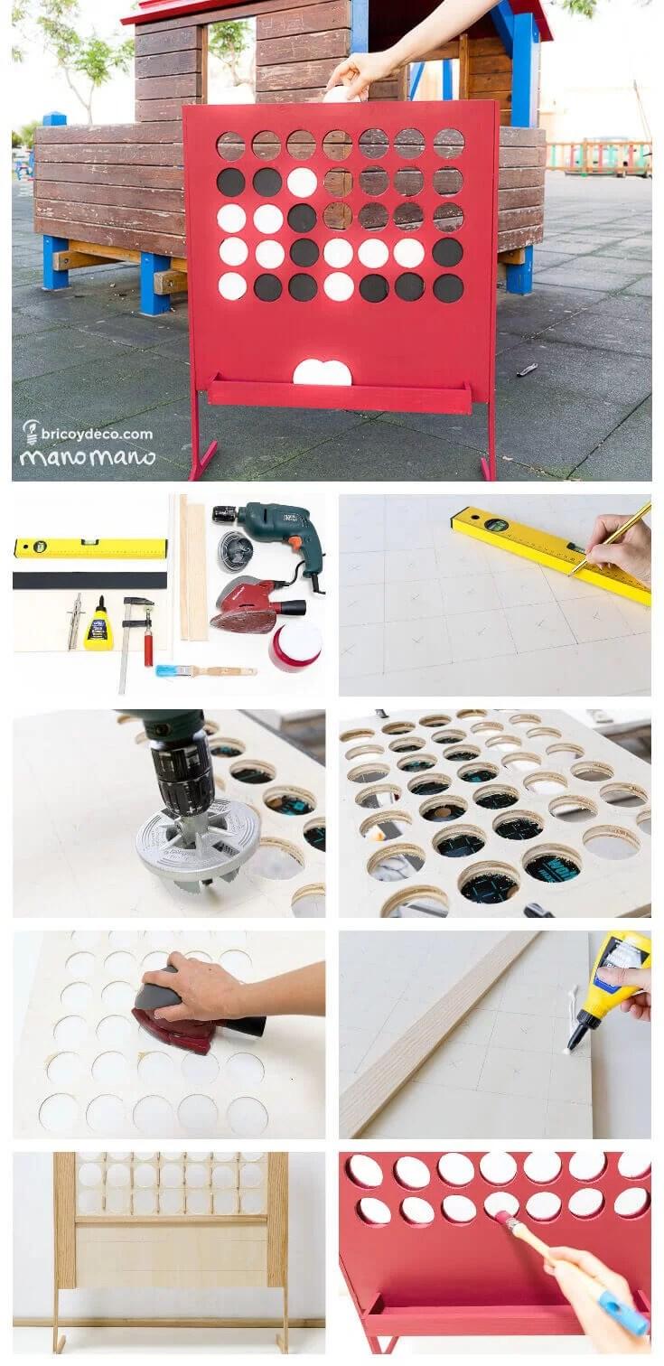 juguetes DIY: paso a paso 4 en raya gigante