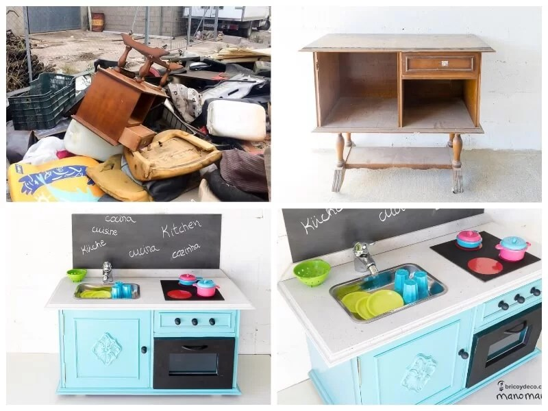 juguetes diy: cocina con mueble de derribo