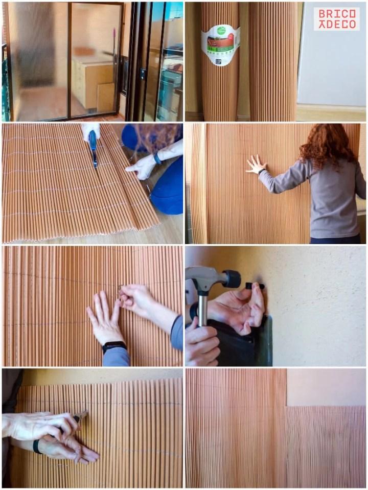 instalar cañizo para proporcionar intimidad al balcón