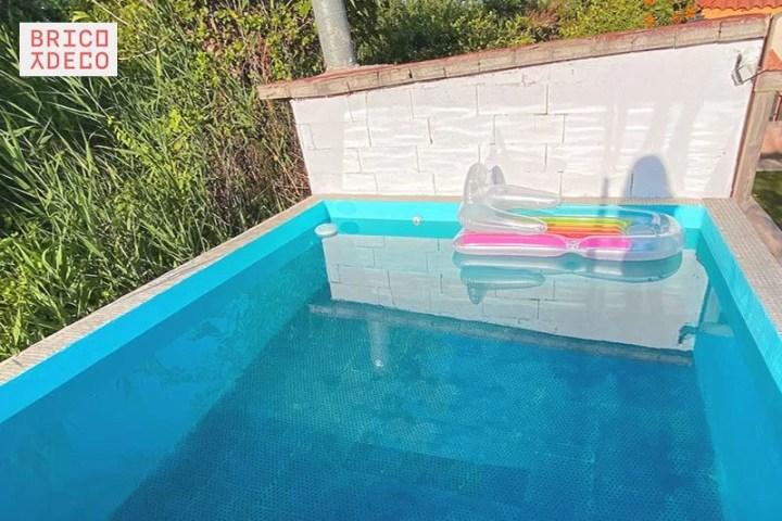 renovación con pintura para piscinas
