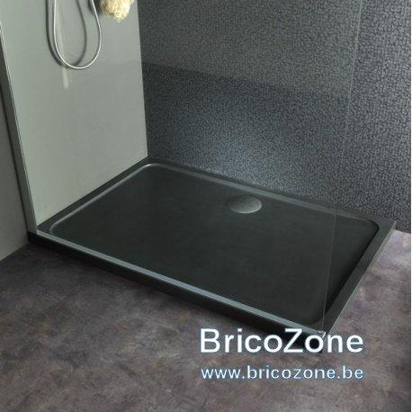 nettoyer bac douche beton noir