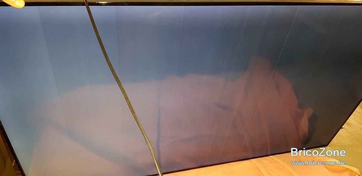 panne tv samsung ecran noir avec du blanc