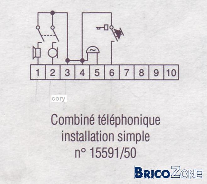 Schema Interphone Urmet 1133