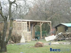 construire son abri de jardin a toit plat