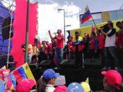 Héctor Rodríguez durante su intervención en Plaza Sucre