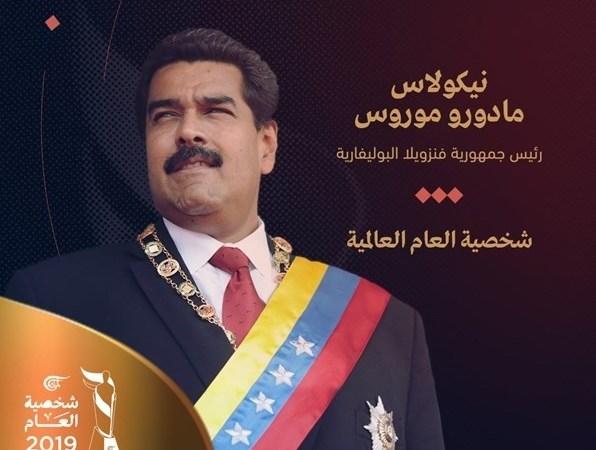 Nicolás Maduro, elegido personalidad del 2019 por un medio libanés