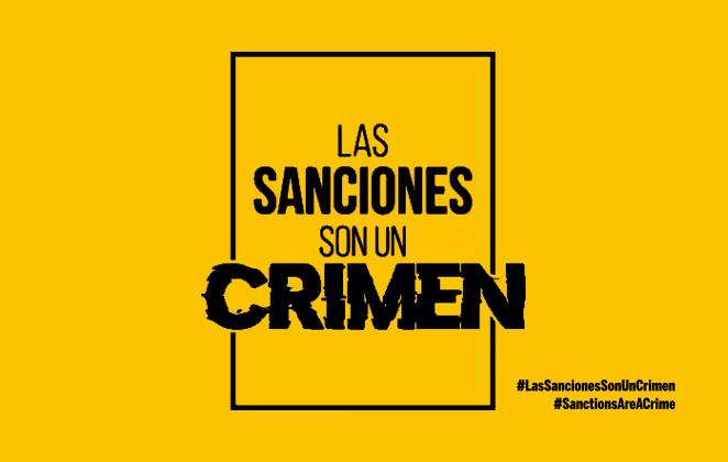 ¡Las sanciones son un crimen!