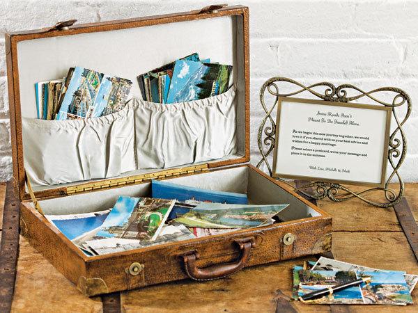 DIY Vintage Luggage Guest Book BridalGuide