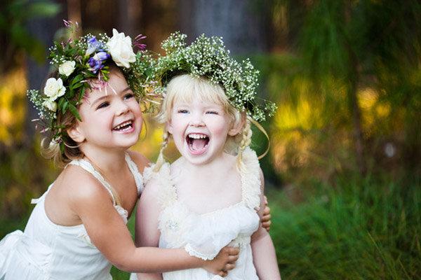 little laughing flower girls