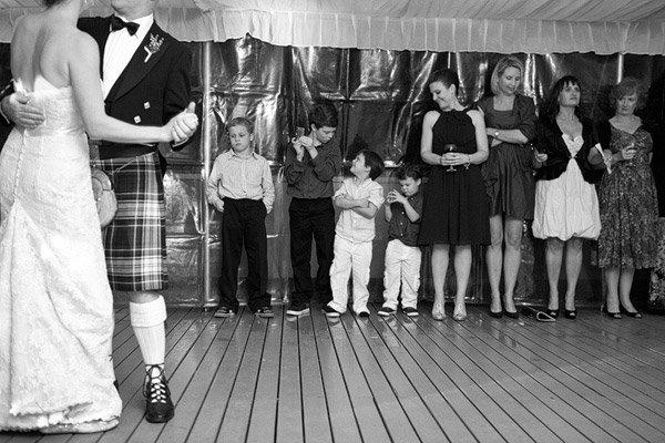 kids watching first dance
