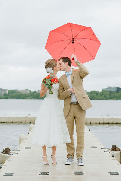 summer rain wedding