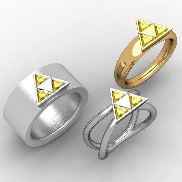 Legend Of Zelda Wedding Bands