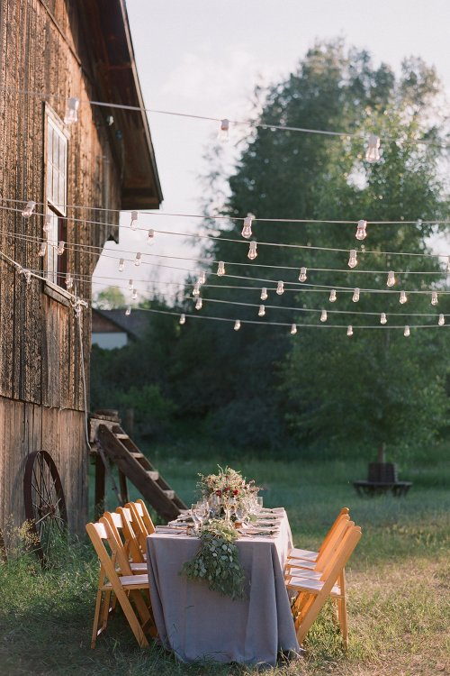 wedding lights for a Chic Country-Themed Wedding
