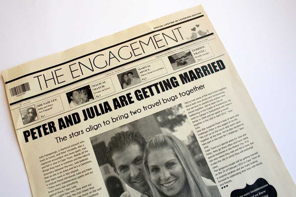 newsfavor wedding engagement announcement