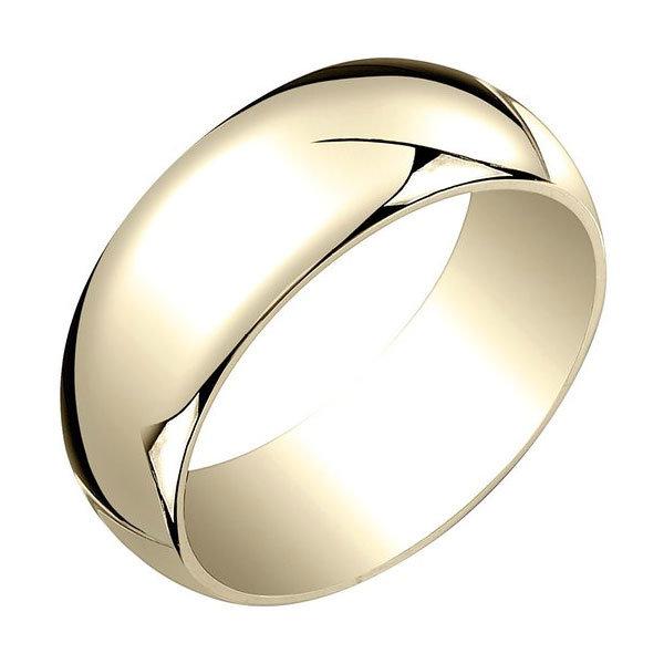 mens yellow gold traditional plain wedding ring