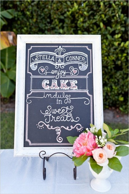 chalkboard wedding signs