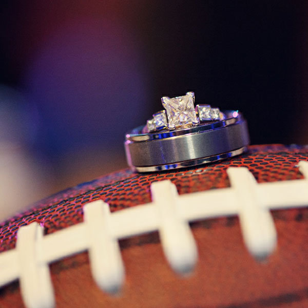 Football, wedding ring, engagement photo, wedding planning, Events by L