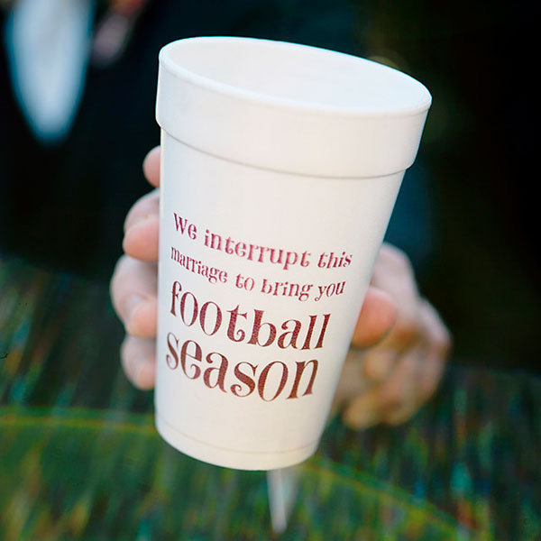 weddings, themed, football, wedding