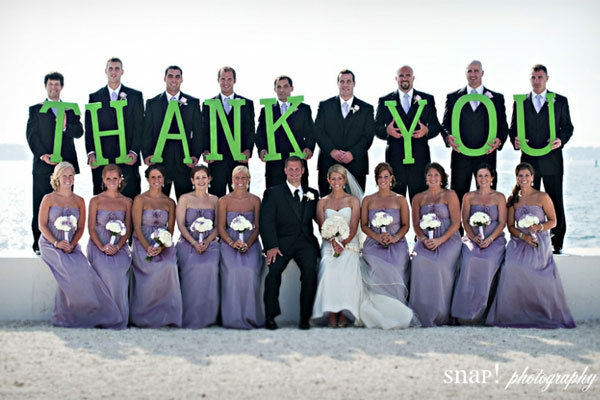 25 Ways to Give Thanks at Your Wedding