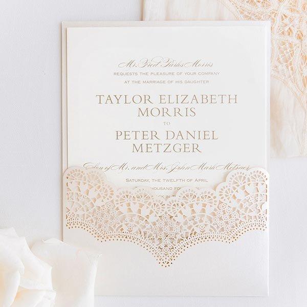Handmade Laser Cut Wedding Invitations