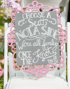 Ceremony seating also clever signs your wedding guests will love bridalguide rh