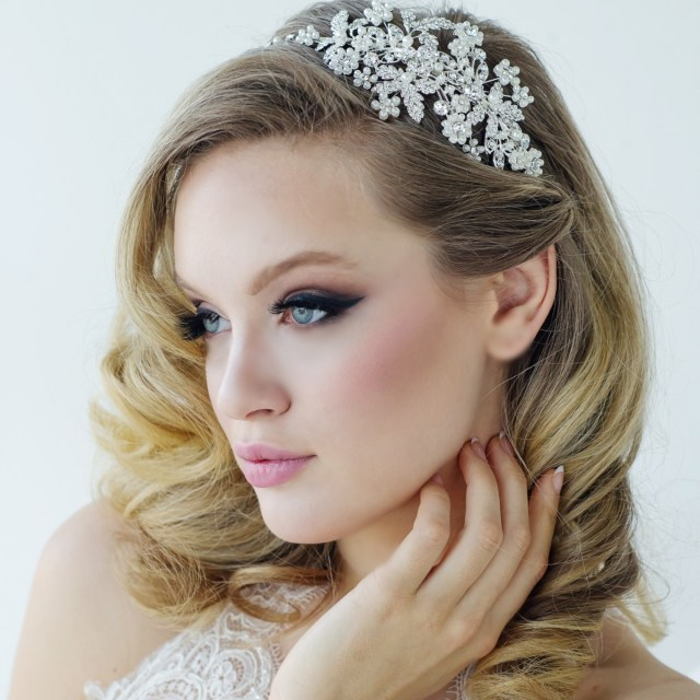 crystal bridal headbands | pearl wedding headbands