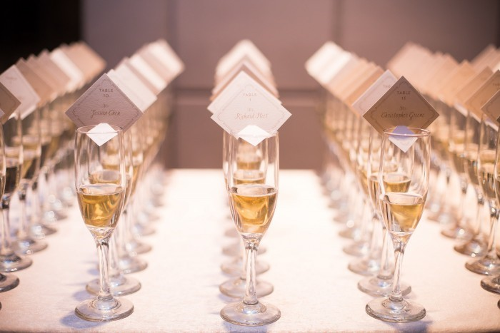 Wedding Wednesday Champagne Escort Cards Bridal Reflections