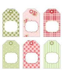 FREE Printable Shabby Chic Tags - Bridal Shower Ideas - Themes