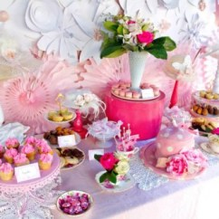 Kitchen Themed Bridal Shower Makeovers On A Budget Pink And White High Tea - ...