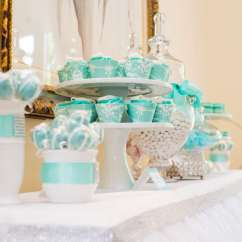 Kate Spade Kitchen Metal Base Cabinets Breakfast At Tiffany's Bridal Shower - Theme