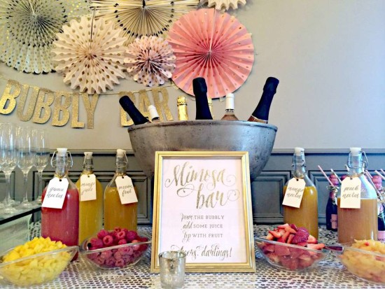 Bubbly Bar Bridal Shower  Bridal Shower Ideas  Themes